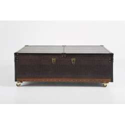 Table Basse Bar Croco Colonial