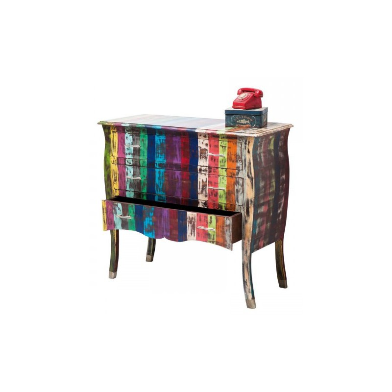 commode rainbow vintage. Black Bedroom Furniture Sets. Home Design Ideas