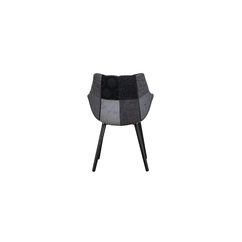 fauteuil eleven patchwork gris abc der duret boutique en ligne. Black Bedroom Furniture Sets. Home Design Ideas