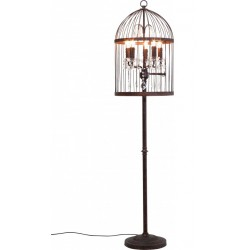 Lampadaire Cage Chandelier