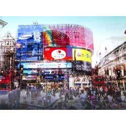 Tableau en Verre Piccadilly Circus 120x160 cm